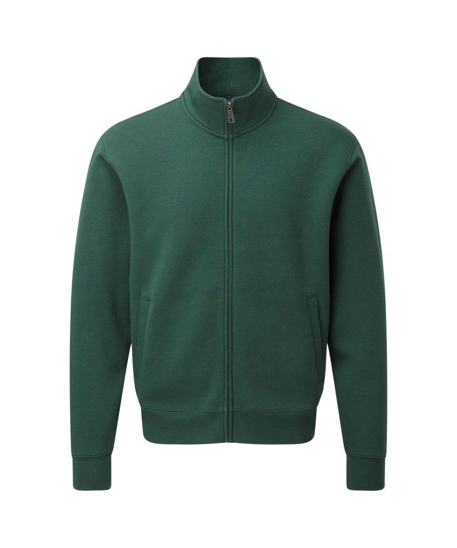 Image for Russell Mens Authentic Full Zip Sweatshirt Jacket (Bottle Green)