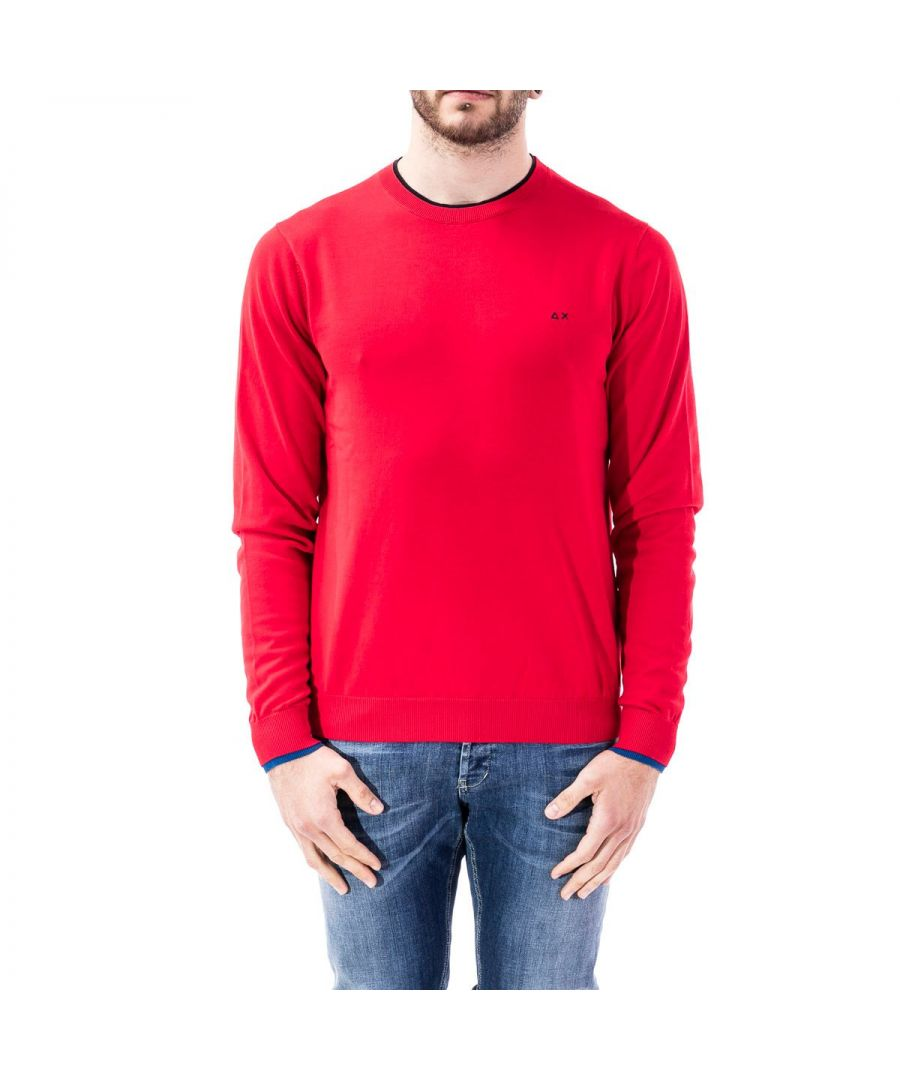 Image for SUN 68 MEN'S K3010410 RED COTTON SWEATER