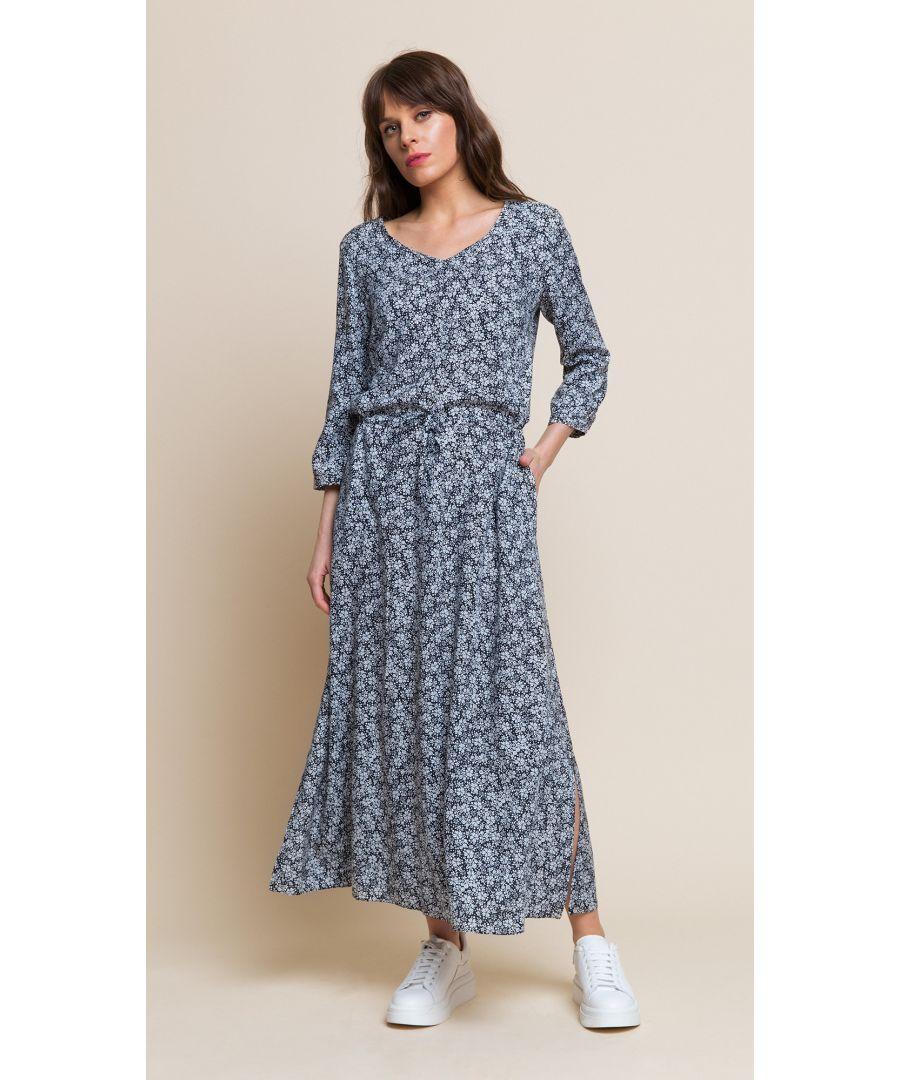 Image for Nancy Floral Black Dress