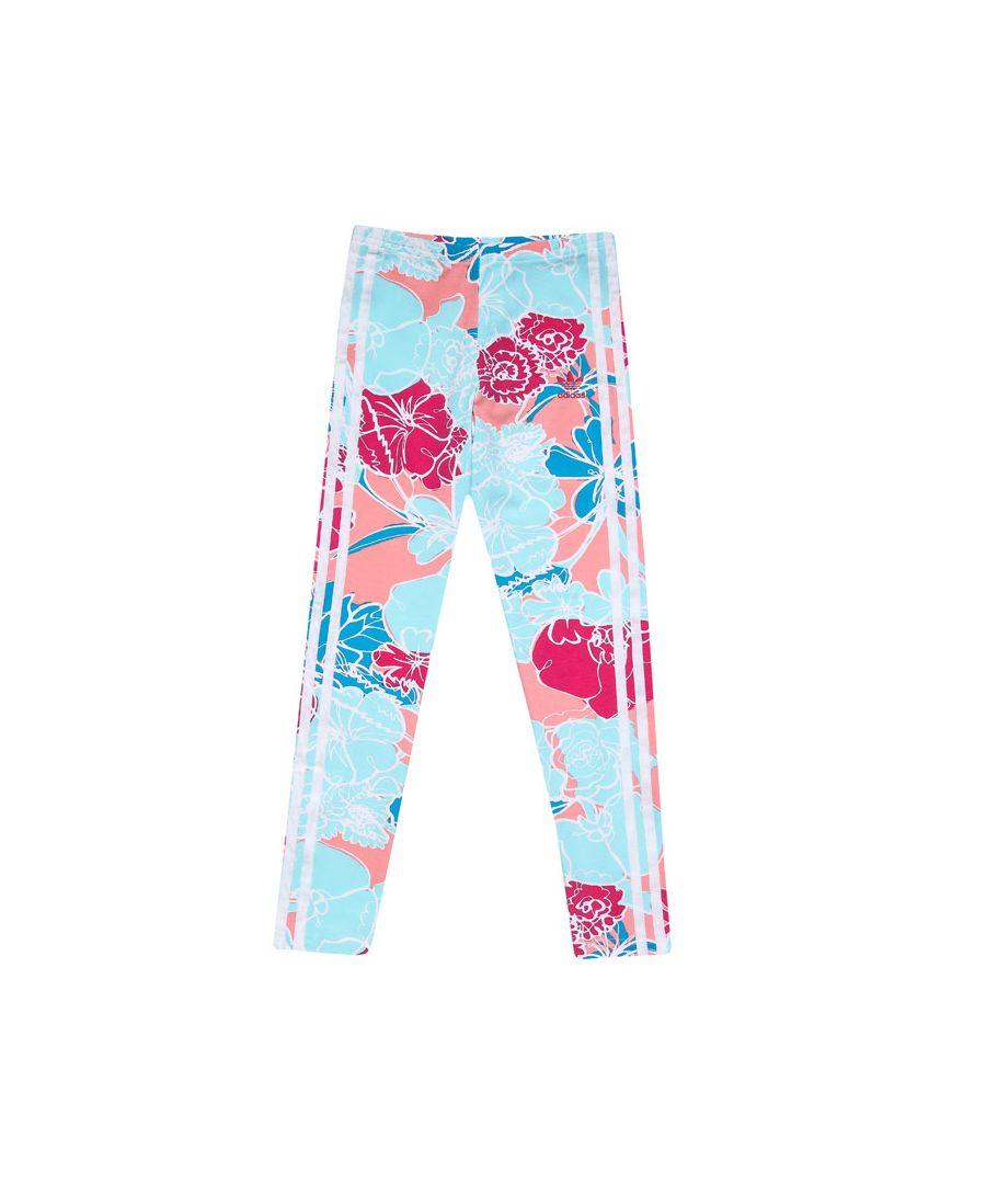 Image for Girls' adidas Originals Junior Leggings Pink 11-12In Pink