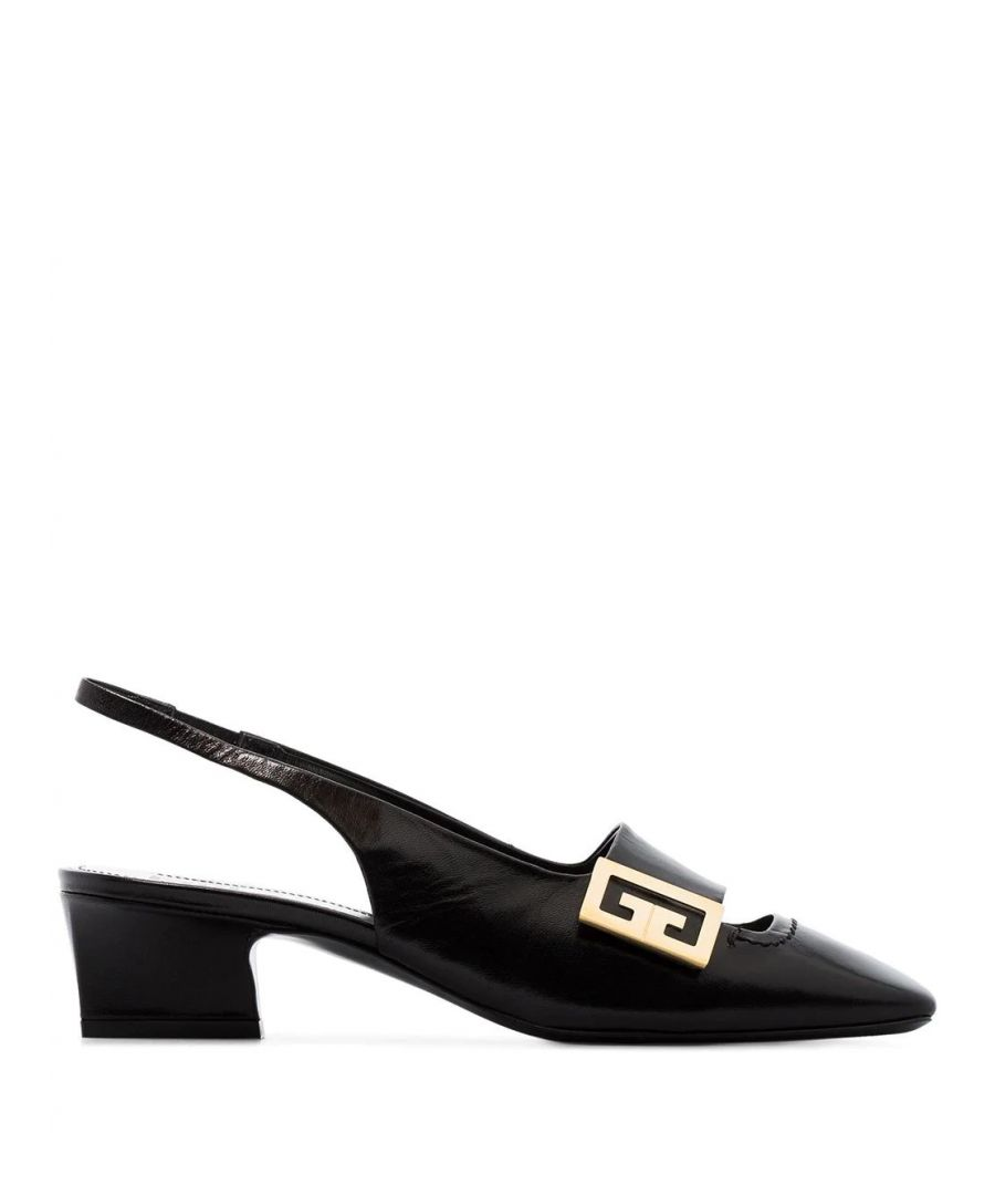 Image for GIVENCHY WOMEN'S BE401FE0LR001 BLACK LEATHER HEELS