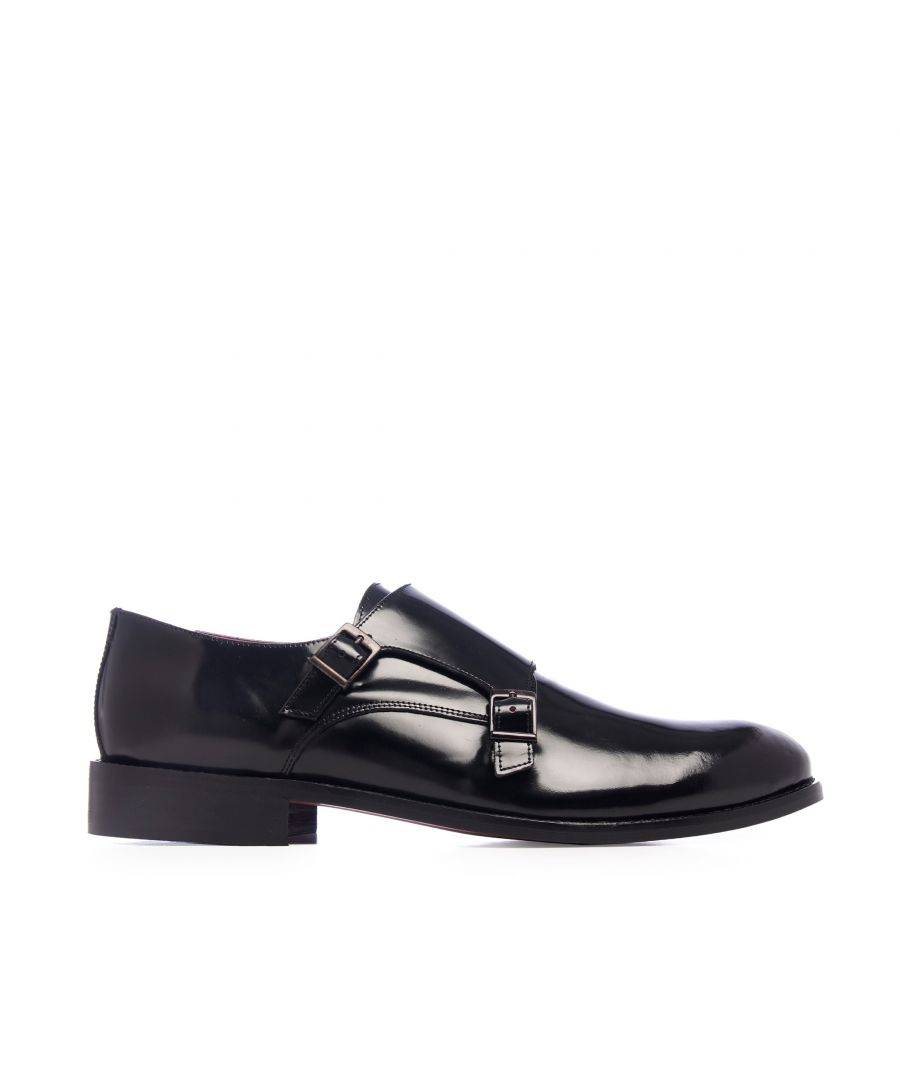 Image for Castellanisimos Monk Men Leather Shoe Black