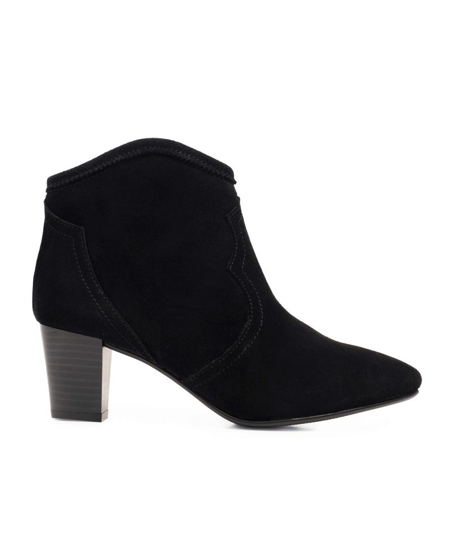 Image for Eva López Leather Ankle Boots Heel Woman