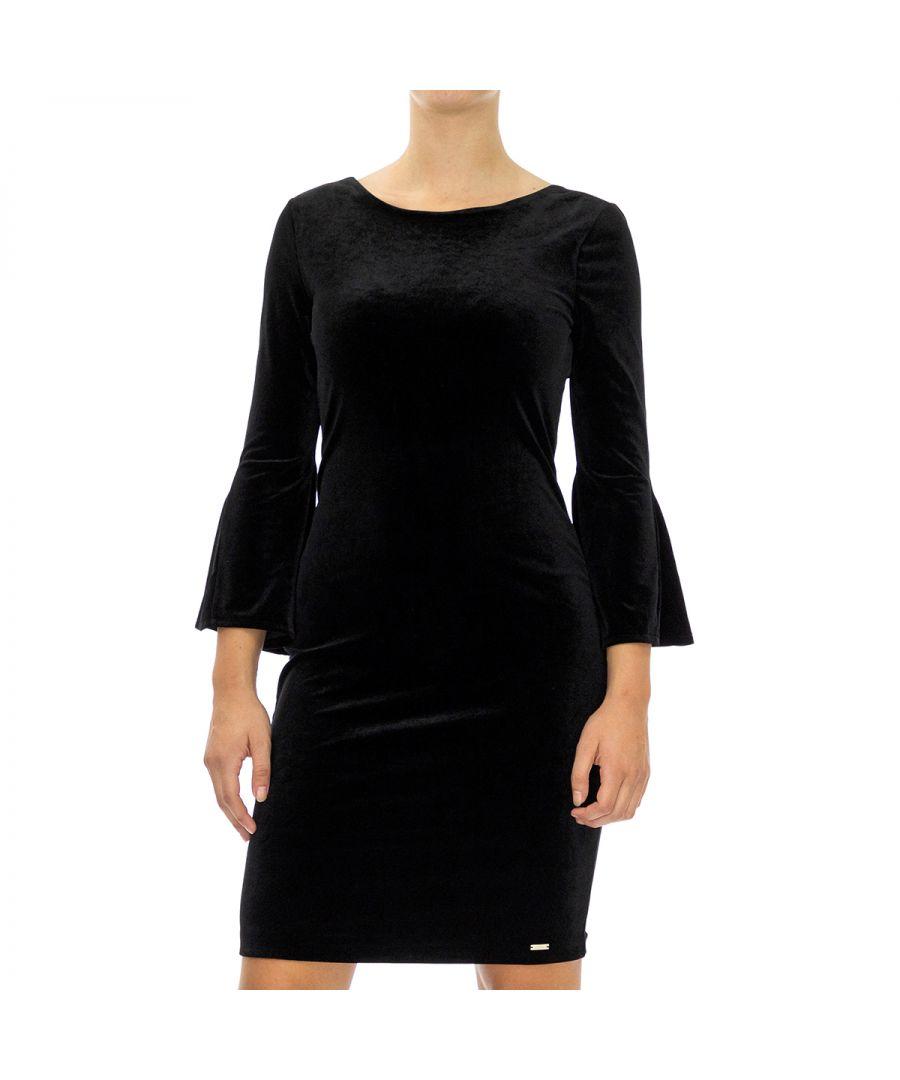 Image for Armani Exchange Women's Dress in Sleeve 7/8 Black