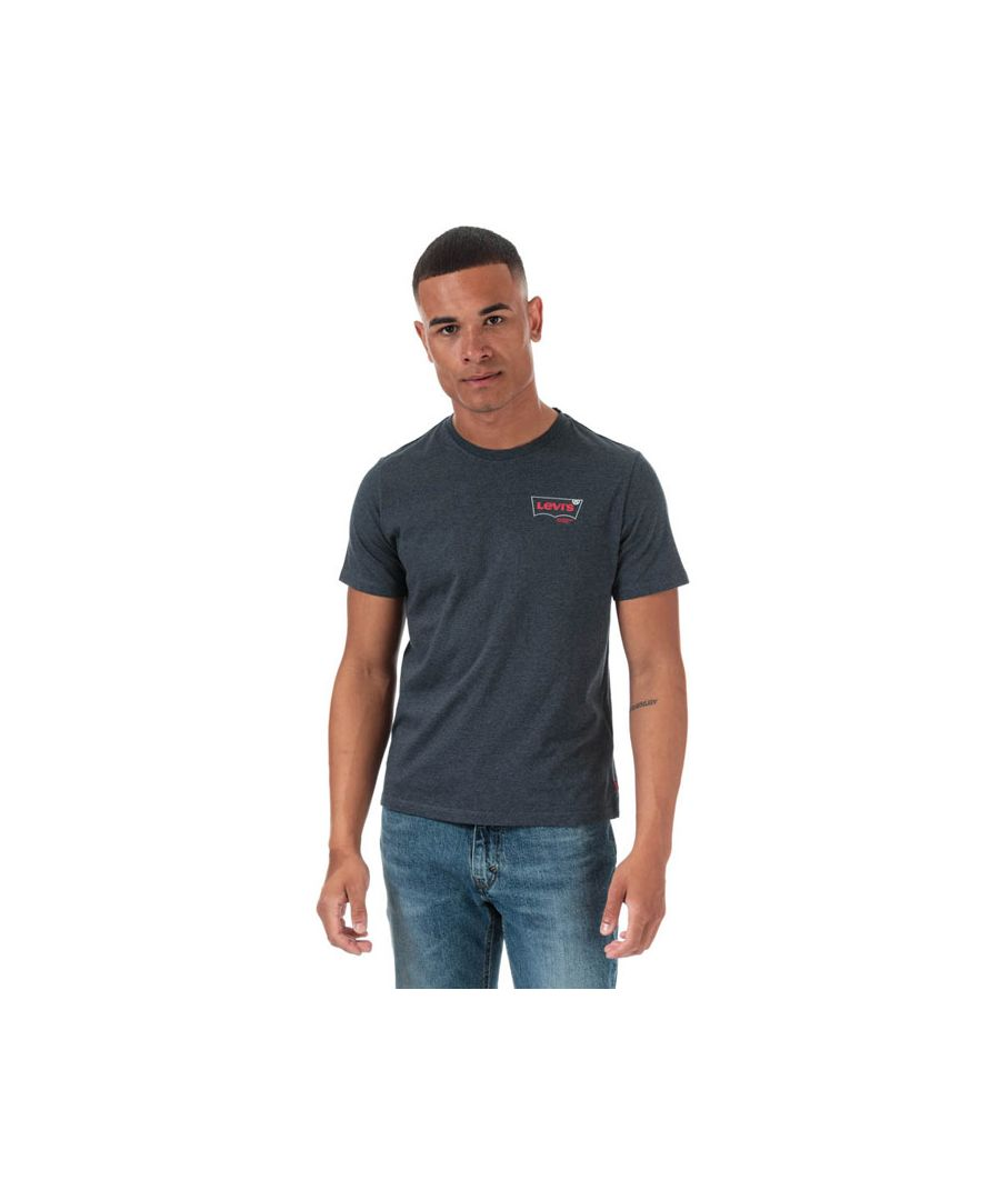Image for Men's Levis Graphic Crew Neck T-Shirt in Grey