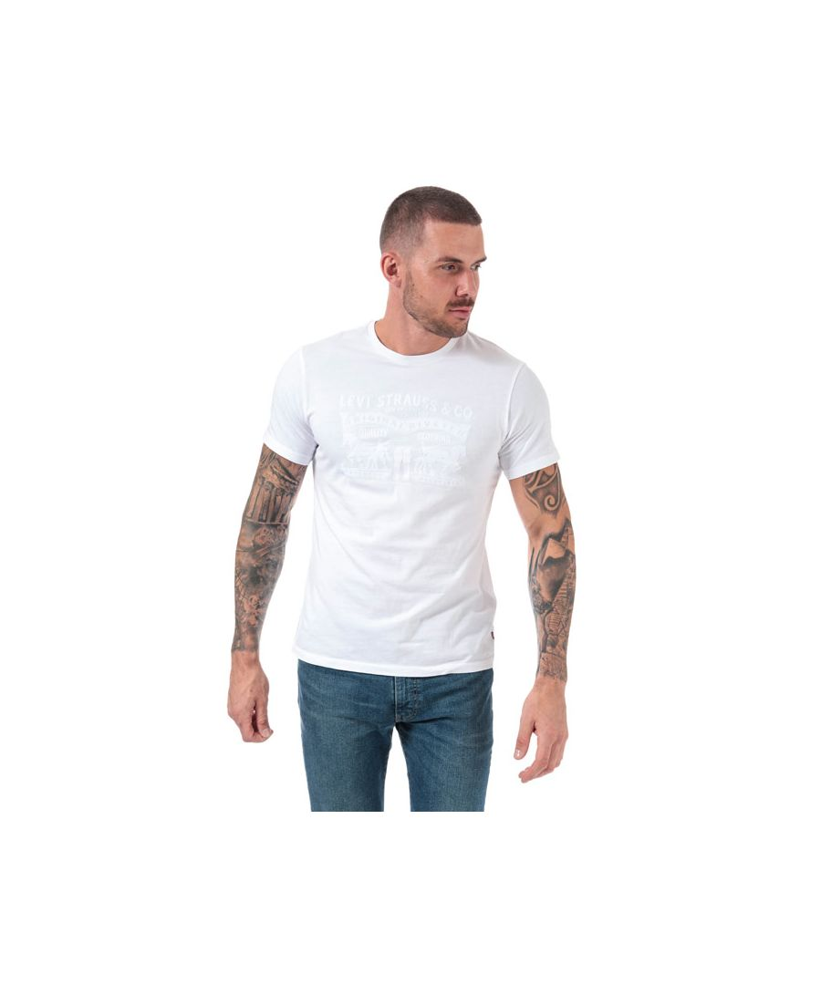 Image for Men's Levis 2 Horse Graphic T-Shirt in White