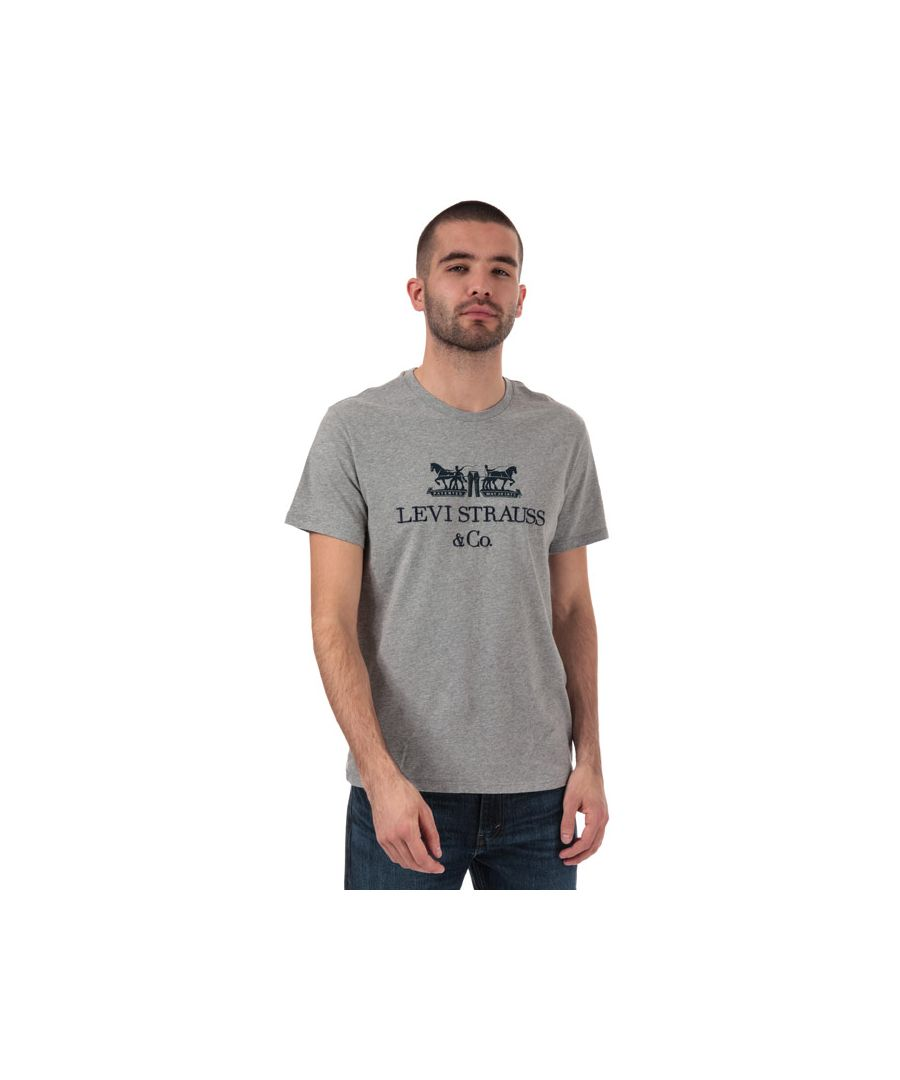 Image for Men's Levis 2 Horse Graphic T-Shirt in Grey