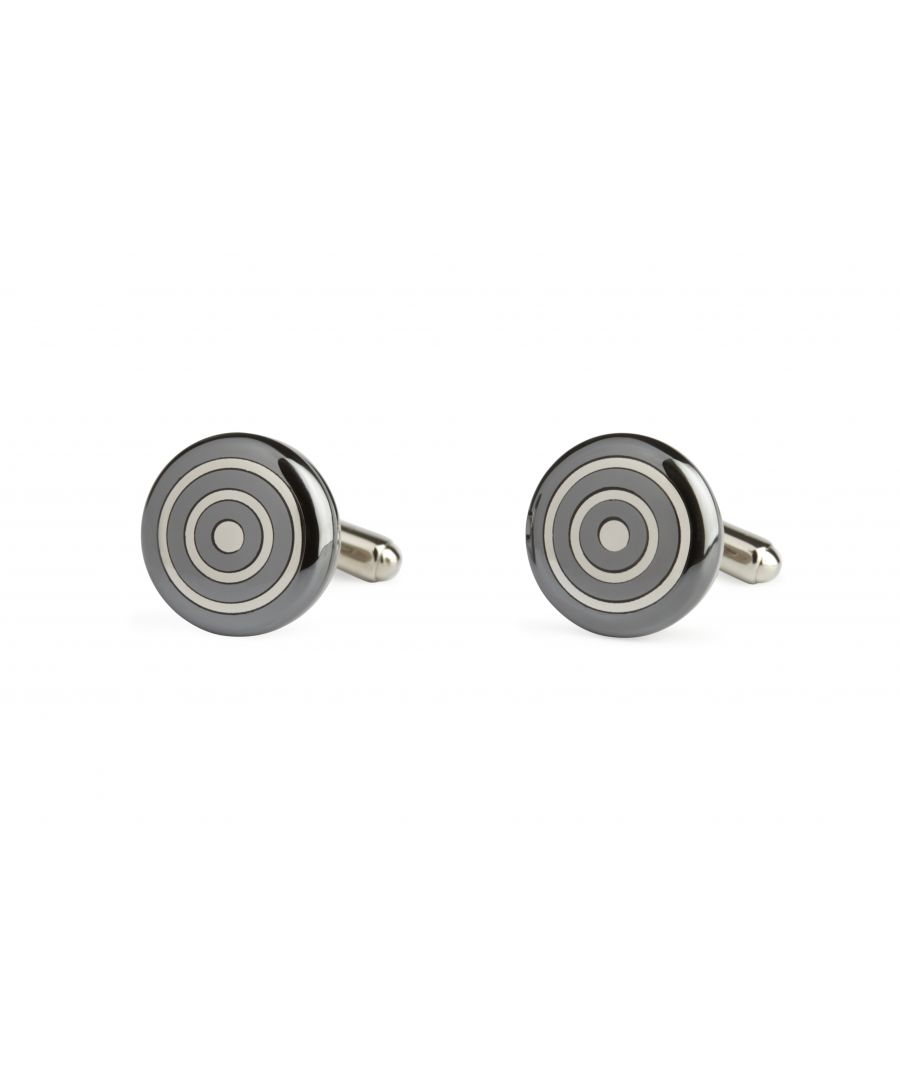 Image for Haematite Flat Round Cufflinks