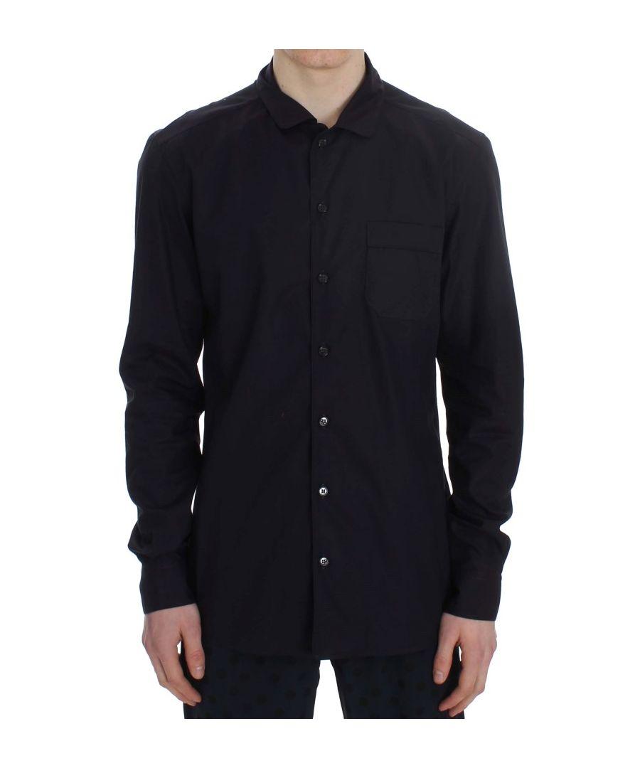 Image for Dolce & Gabbana Purple Striped Cotton Pajama Lounge Shirt