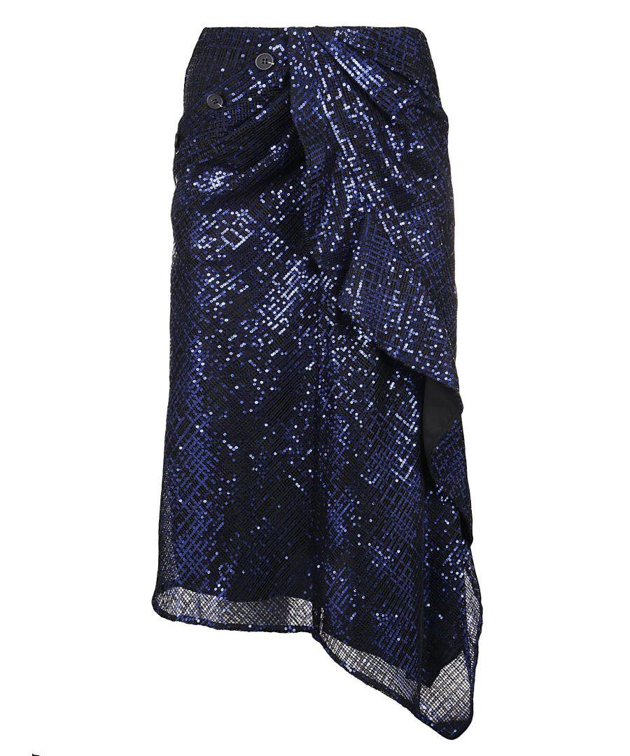 Image for SELF-PORTRAIT WOMEN'S SP23117BLUE BLUE POLYESTER SKIRT