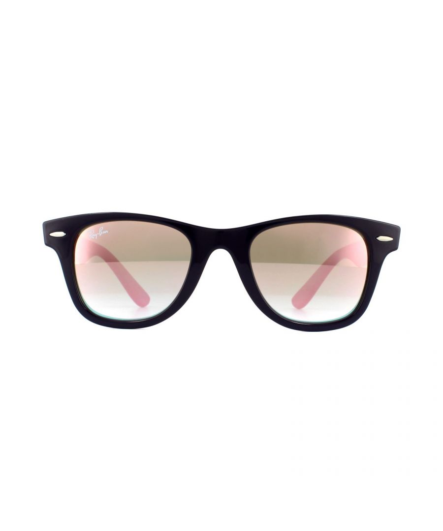 Image for Ray-Ban Junior Sunglasses Wayfarer Junior RJ9066 7021B9 Violet Purple Reddish Copper Gradient Mirror