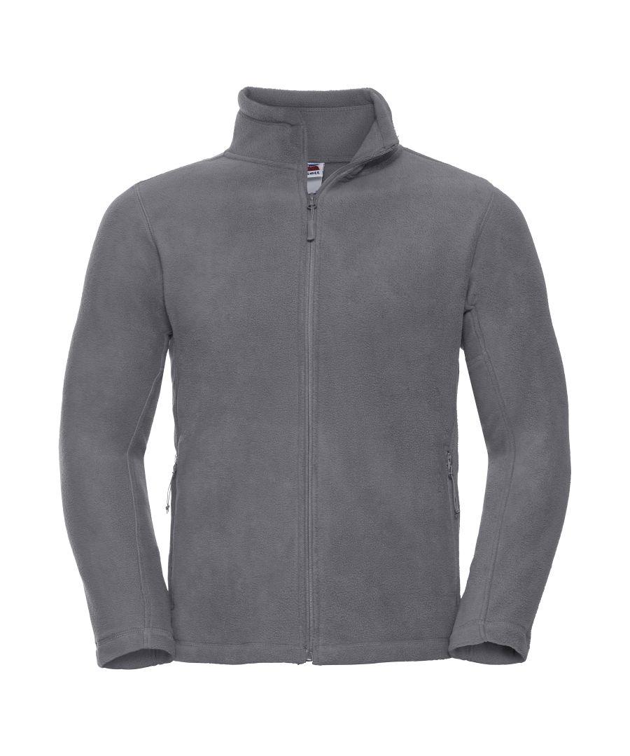 Image for Russell Mens Full Zip Outdoor Fleece Jacket (Convoy Grey)