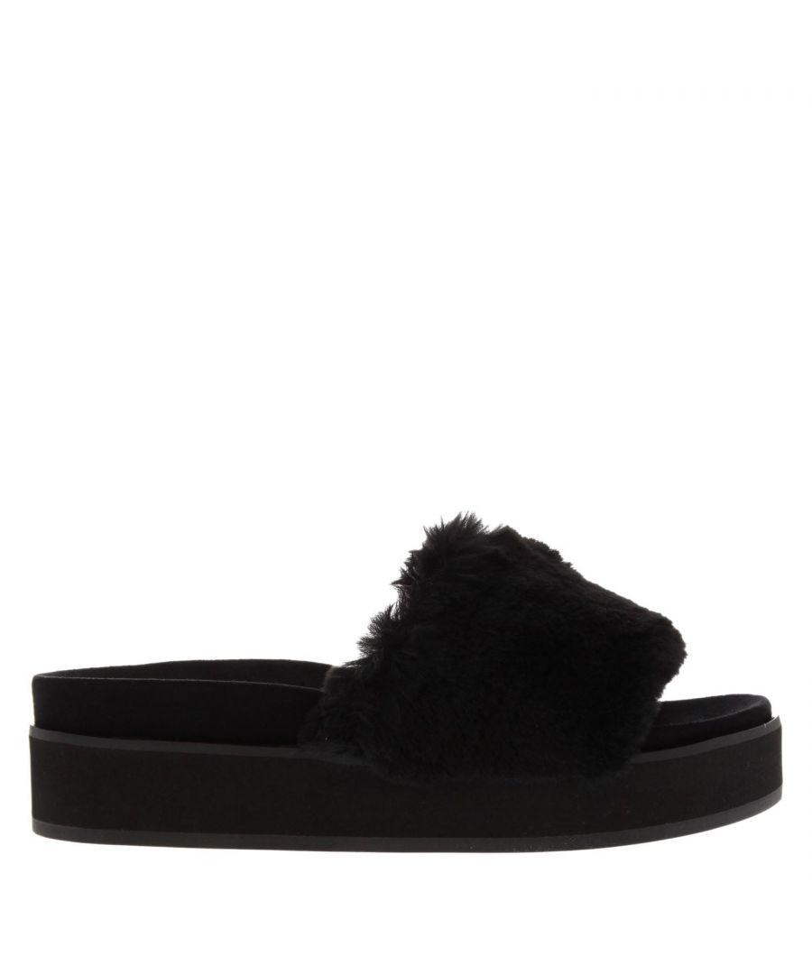 Image for Steve Madden Womens Dreamy Flat Sandals Strap Platform Sliders Summer Shoes