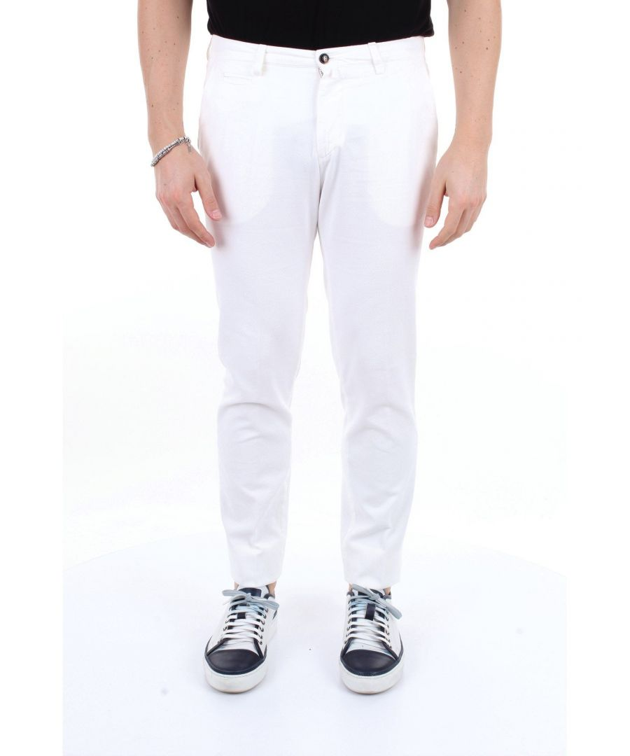 Image for BRIGLIA 1949 MEN'S BG0539577BIANCO WHITE COTTON PANTS