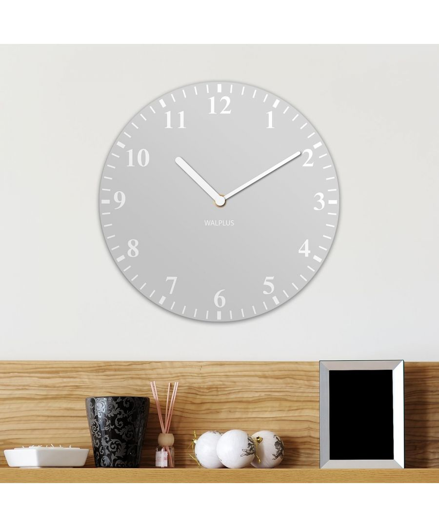 Image for Light Grey Solid Colour Classic Wall Clock