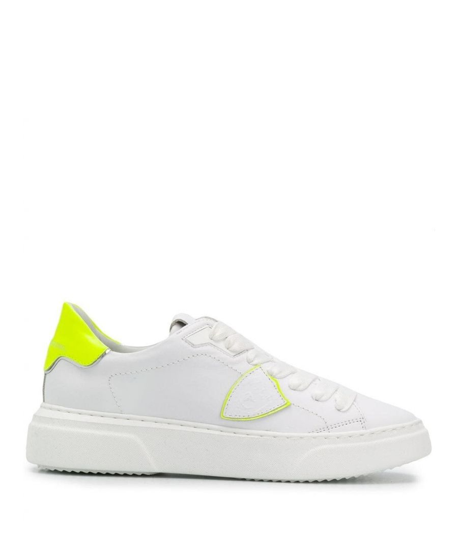 Image for PHILIPPE MODEL WOMEN'S BYLDVF01 WHITE LEATHER SNEAKERS
