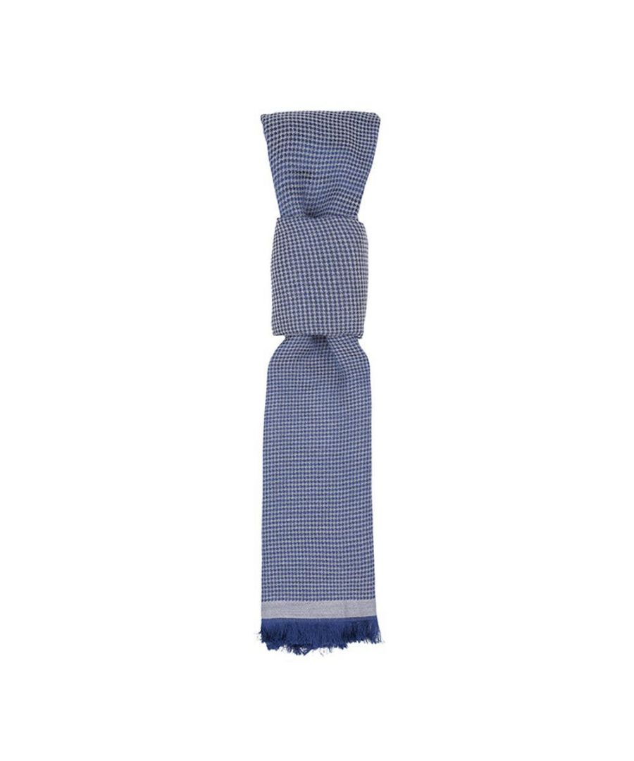 Image for Men's Hackett, Houndstooth Scarf in Navy