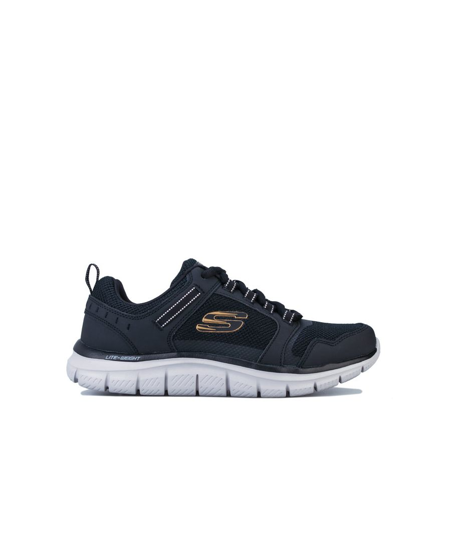 Image for Men's Skechers Track Knockhill Trainers in Black Grey
