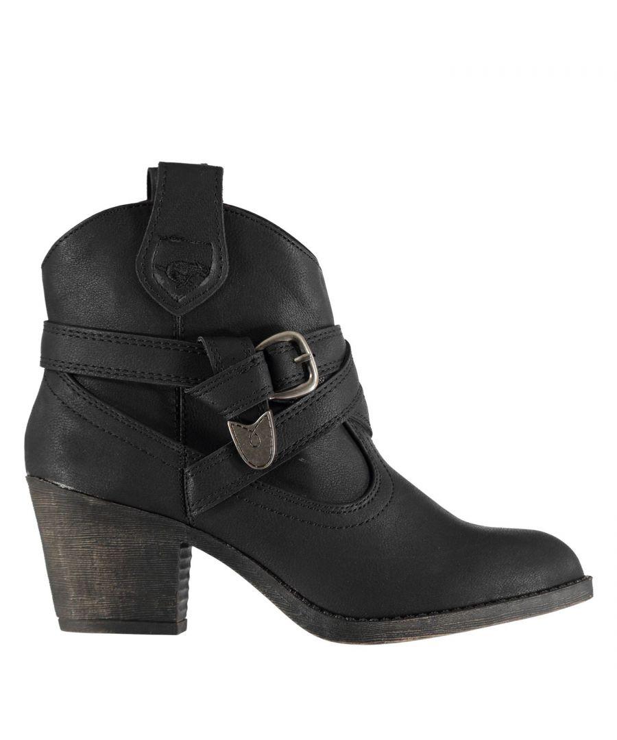 Image for Rocket Dog Women Satire Boots Buckle Detailing 6.5 Cm Heel Shoes
