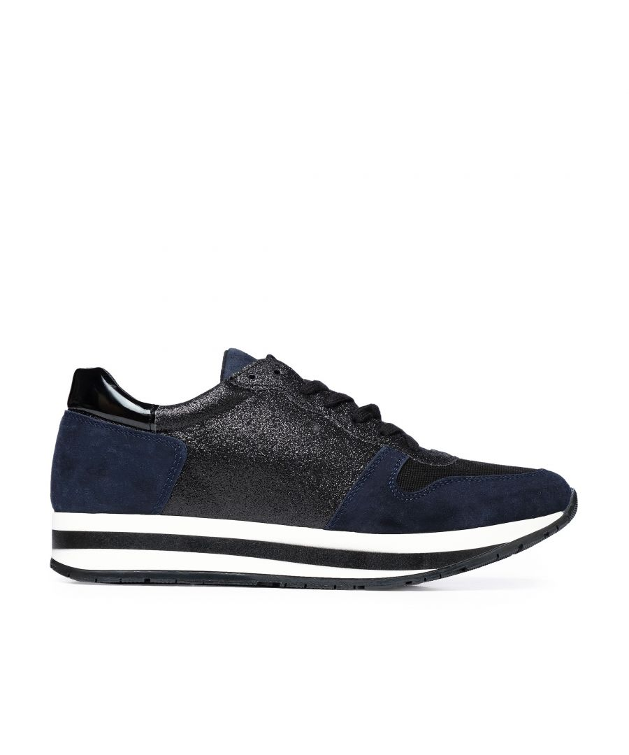 Image for Eva Lopez Sport Shoes Women Sneaker Navy Color Laces Woman