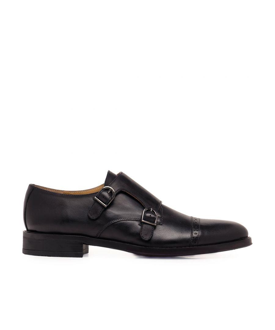 Image for Castellanisimos Monk Men Leather Shoe Black