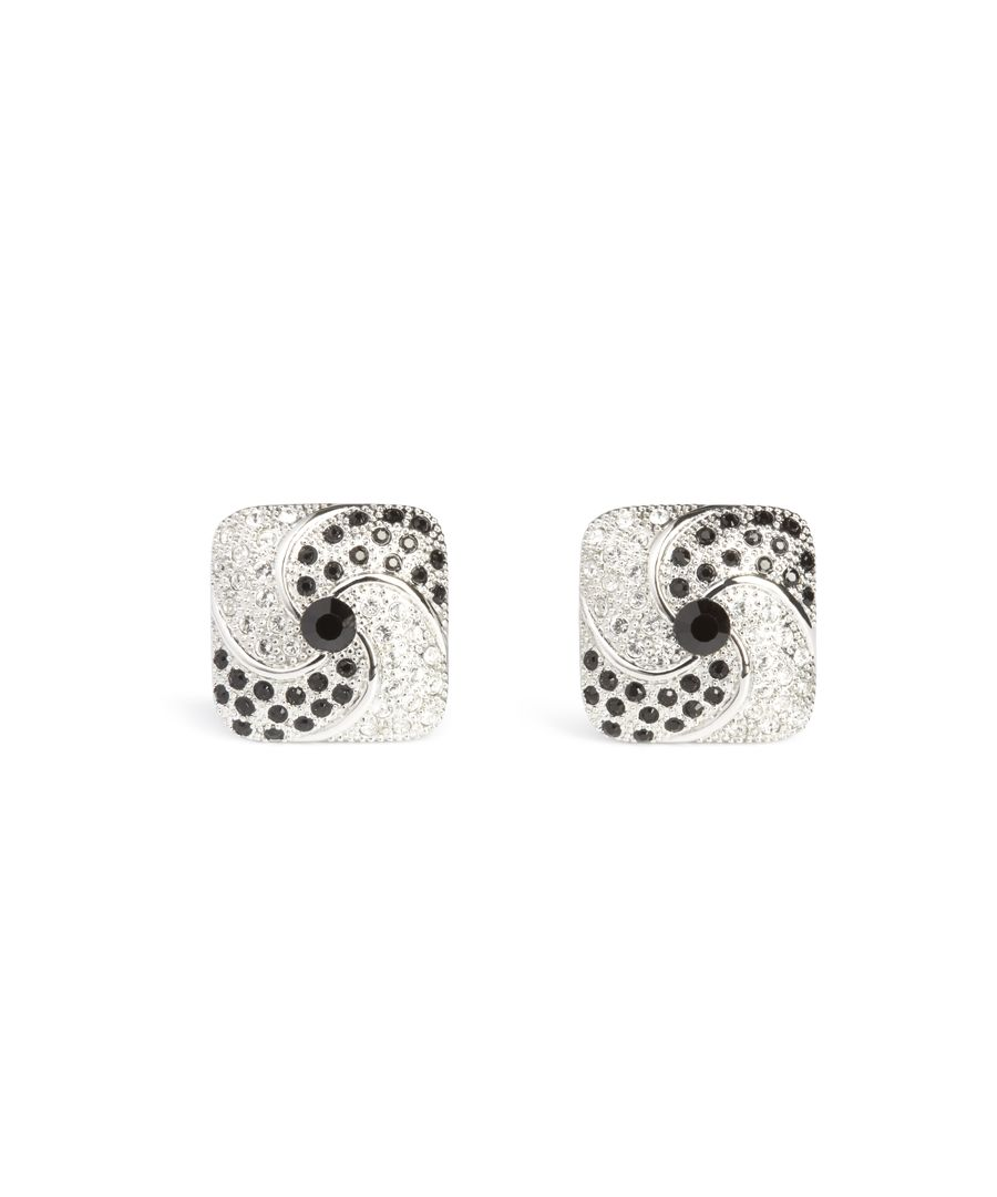 Image for jet Crystal Whirl Cufflinks