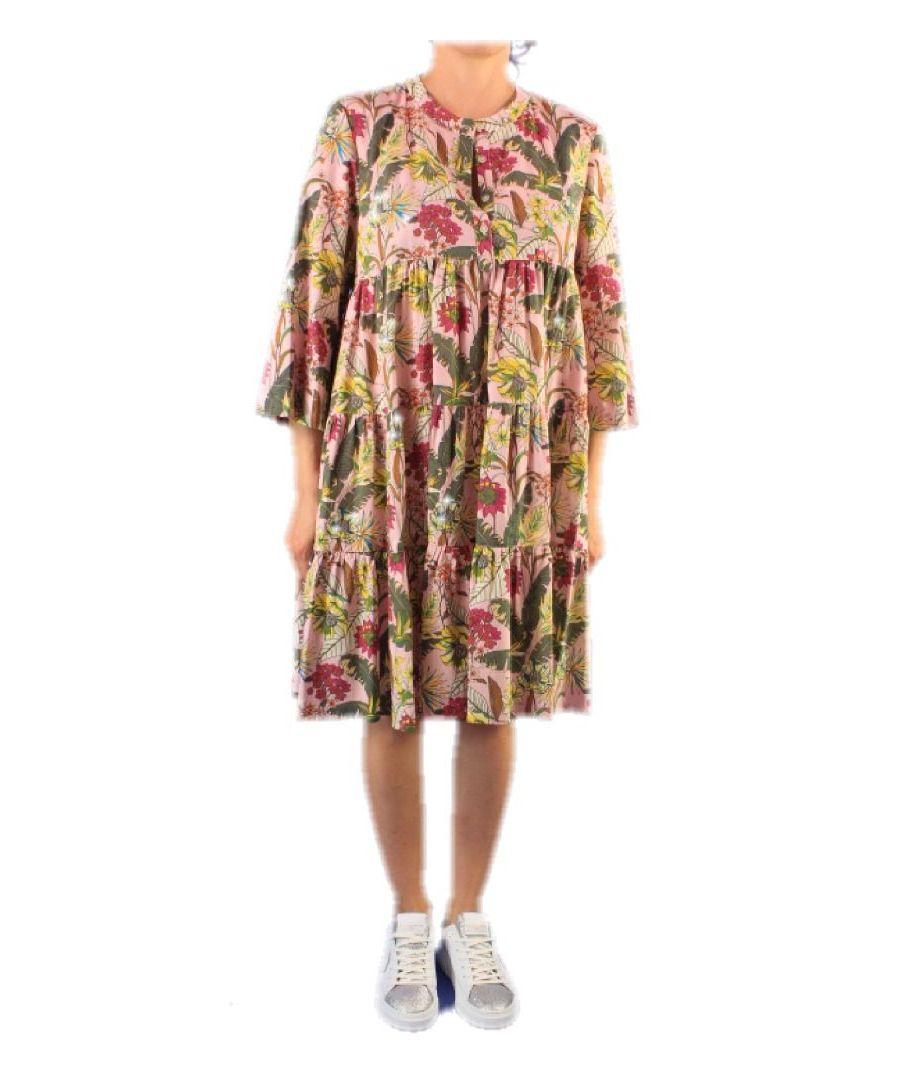 Image for ALTEA WOMEN'S 656782 PINK COTTON DRESS