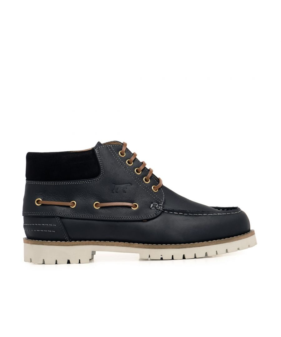 Image for Castellanisimos Leather Boots Laces Men Winter Black