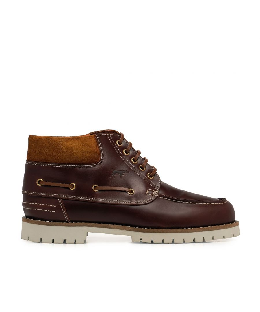 Image for Castellanisimos Leather Boots Laces Men Winter Brown