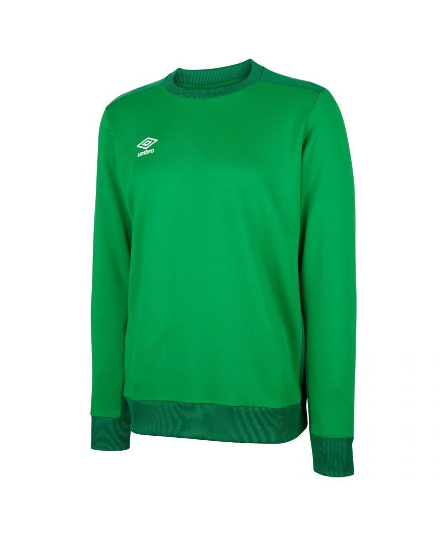 Image for Umbro Boys Fleece Training Sweatshirt (Emerald Green/Verdant Green)