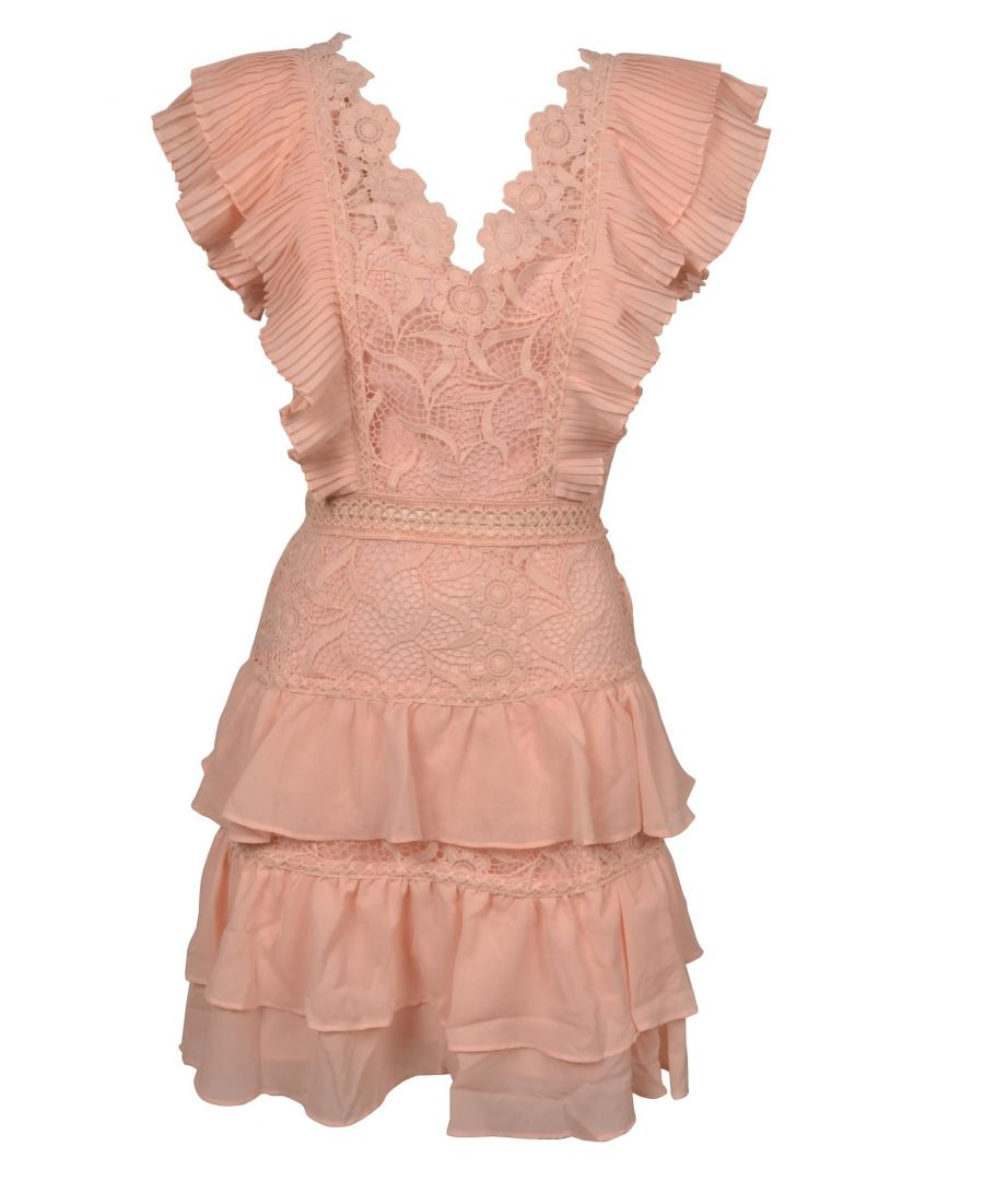 Image for TRUE DECADENCE WOMEN'S HS0787 PINK COTTON DRESS