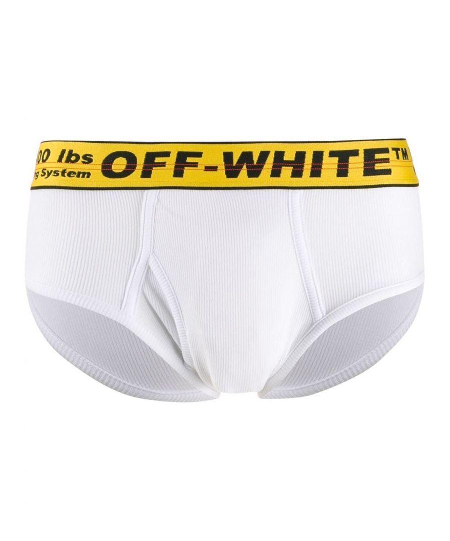 Image for OFF-WHITE MEN'S OMUA005R201850350160 WHITE COTTON BOXER