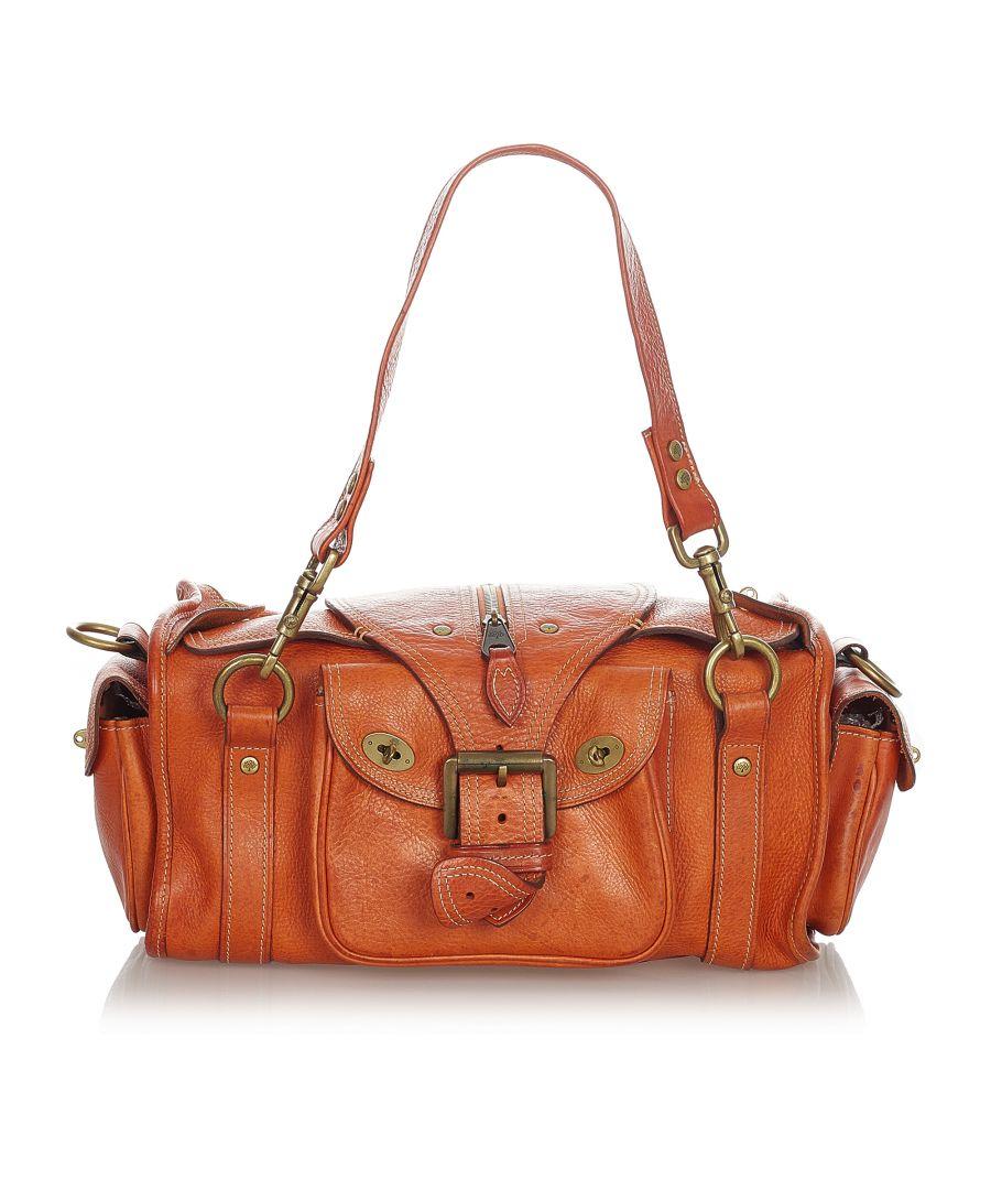 Image for Vintage Mulberry Emmy Leather Shoulder Bag Orange