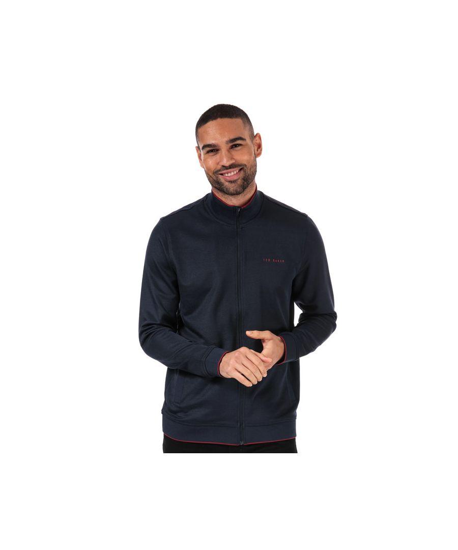 Image for Men's Ted Baker Nohit Zip Sweatshirt in Navy