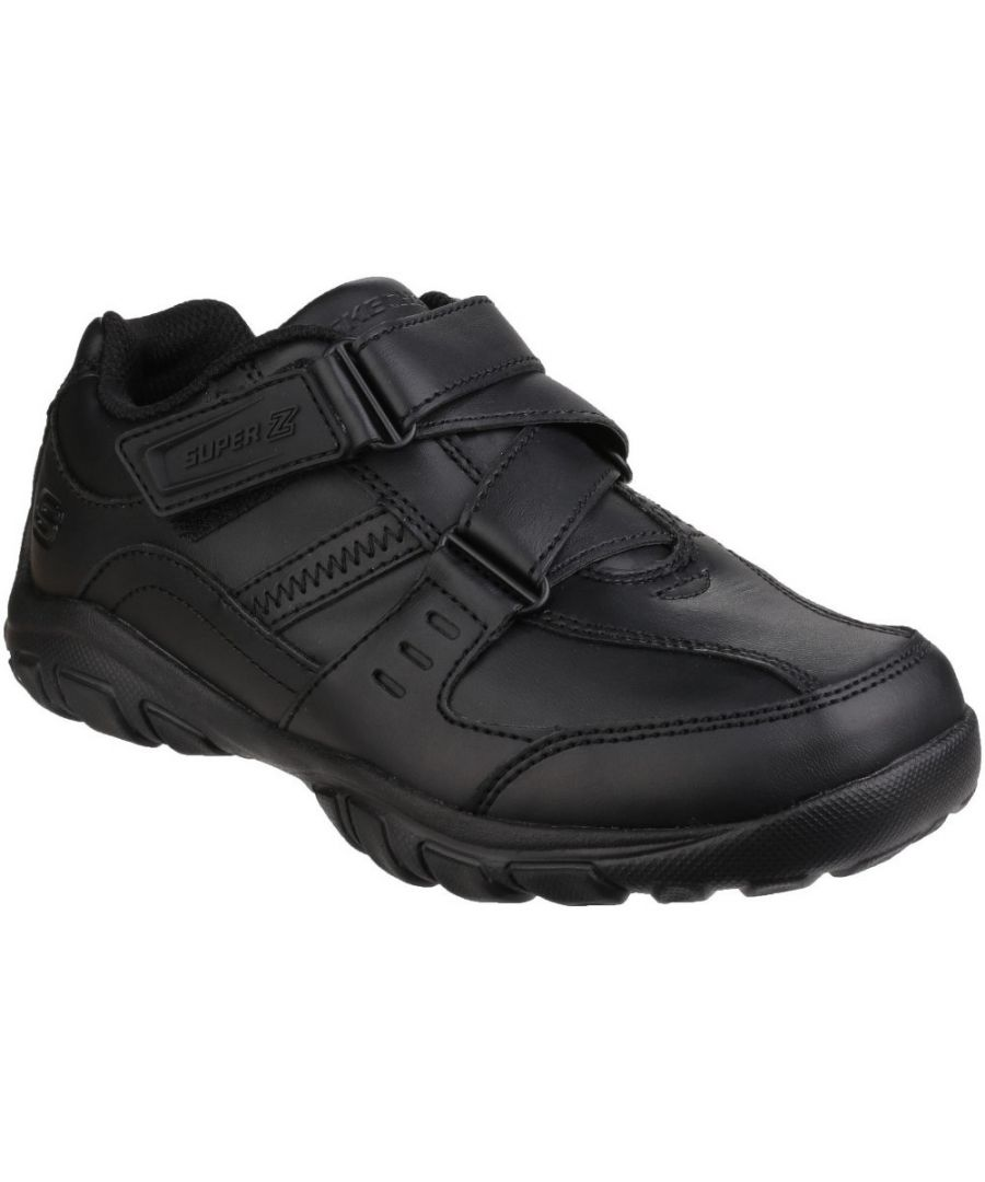 Image for Skechers Boys Grambler Zeem Zigzag Strap Oxford School Shoes