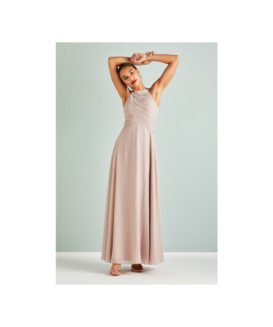 Image for Mink Lace Occasion Maxi Dress