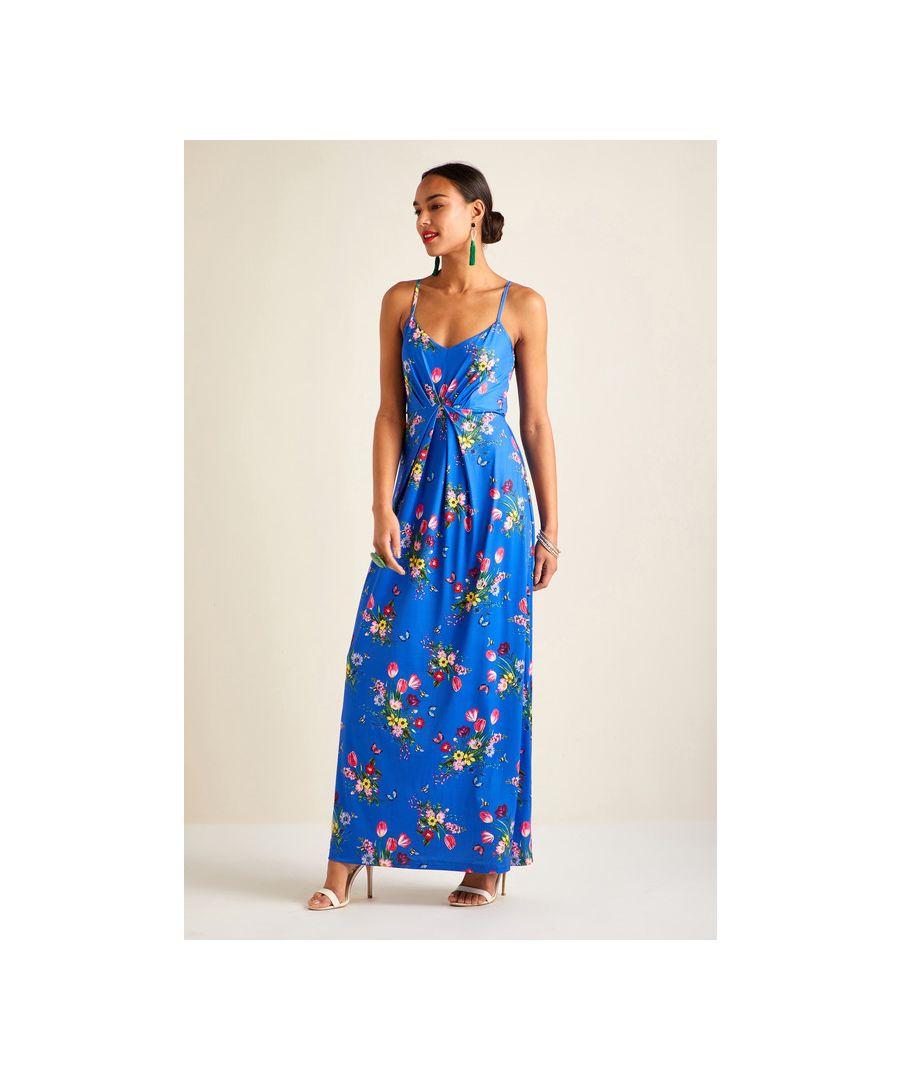 Image for Blue Bouquet Maxi Dress