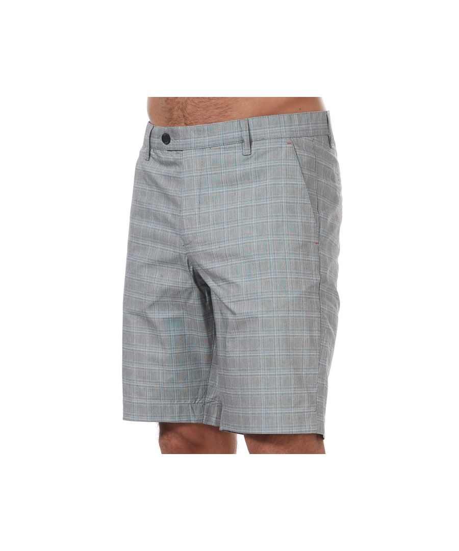 Image for Men's Ted Baker Waltr Golf Checked Shorts in Grey