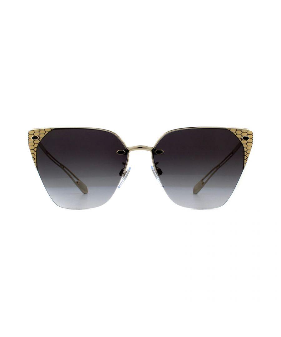 Image for Bvlgari Sunglasses BV6116 278/8G Pale Gold Grey Gradient