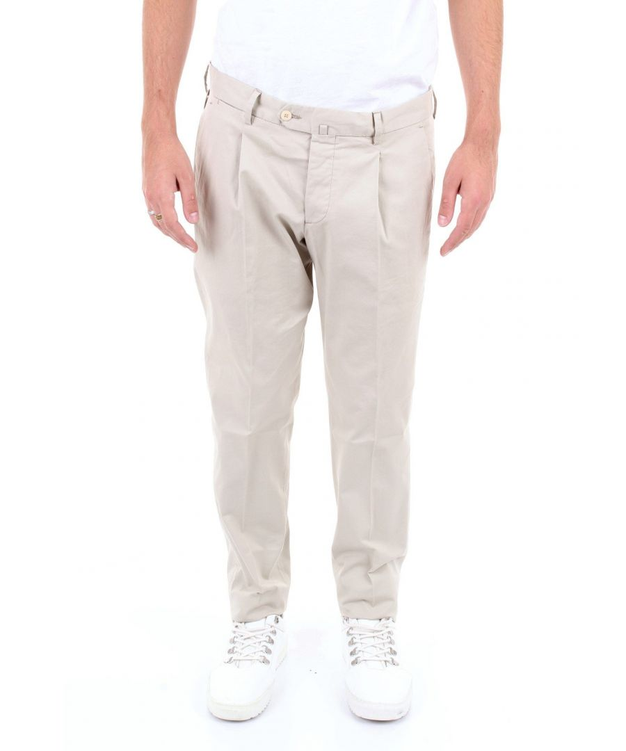 Image for BRIGLIA 1949 MEN'S BG07W3886GRIGIOCHIARO GREY COTTON PANTS