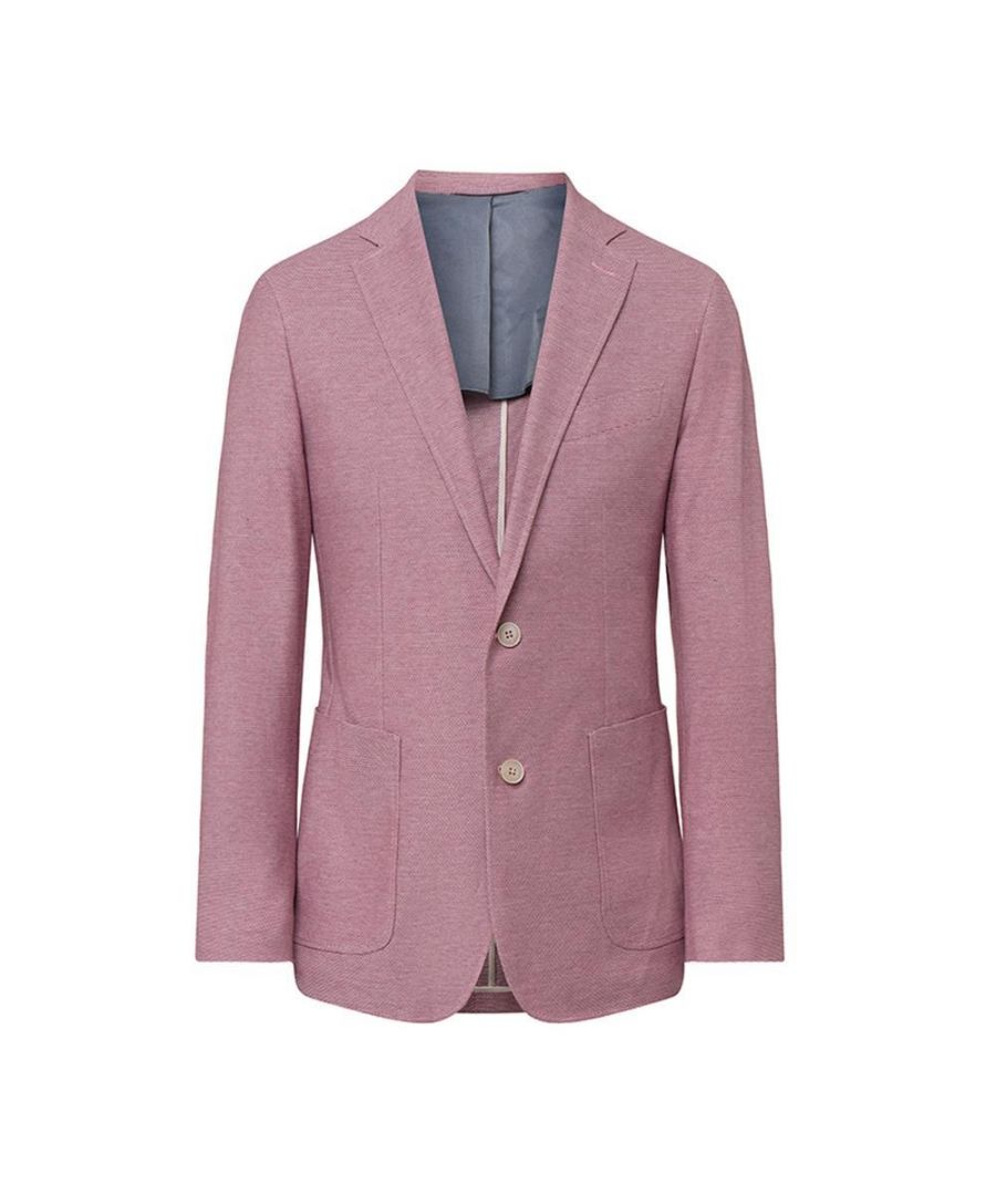 Image for Men's Hackett, Texture Knit Jacket in Berry