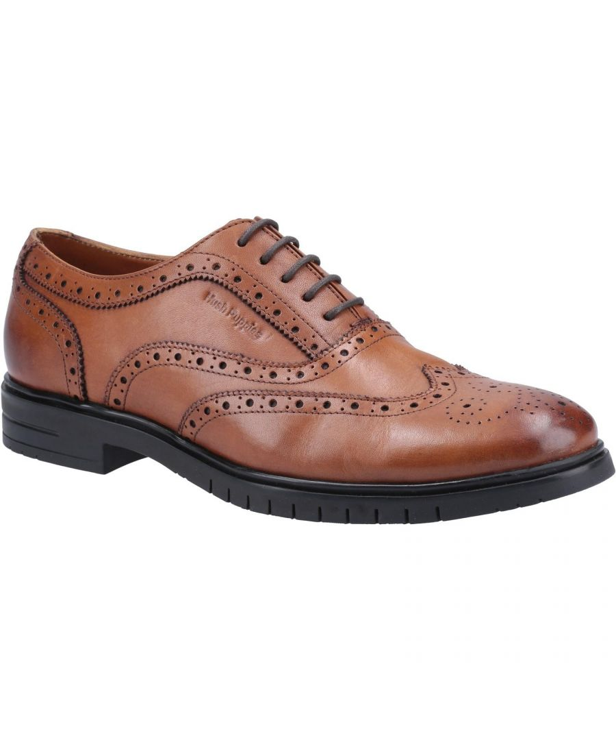 Image for Hush Puppies Mens Santiago Leather Brogues (Tan)