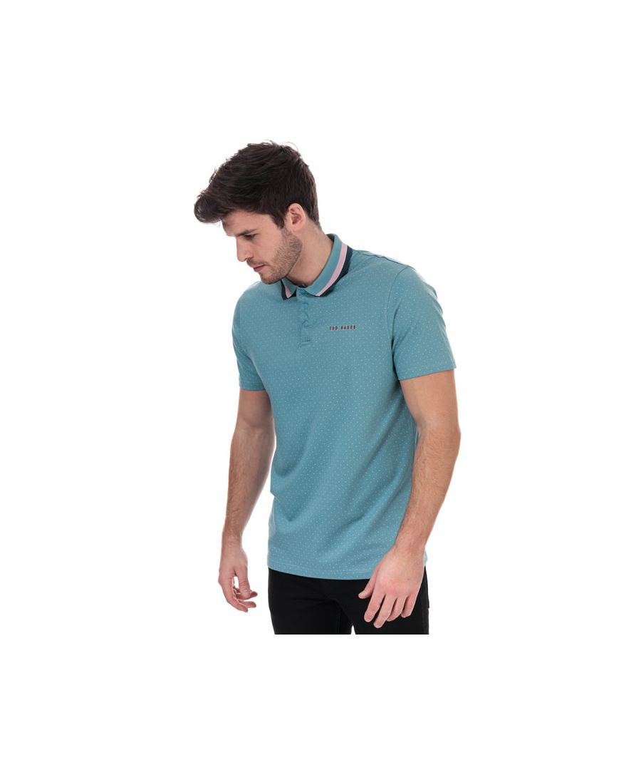Image for Men's Ted Baker Kabby Golf Polo Shirt in Blue