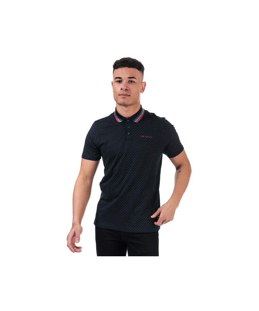 Image for Men's Ted Baker Kabby Golf Polo Shirt in Navy