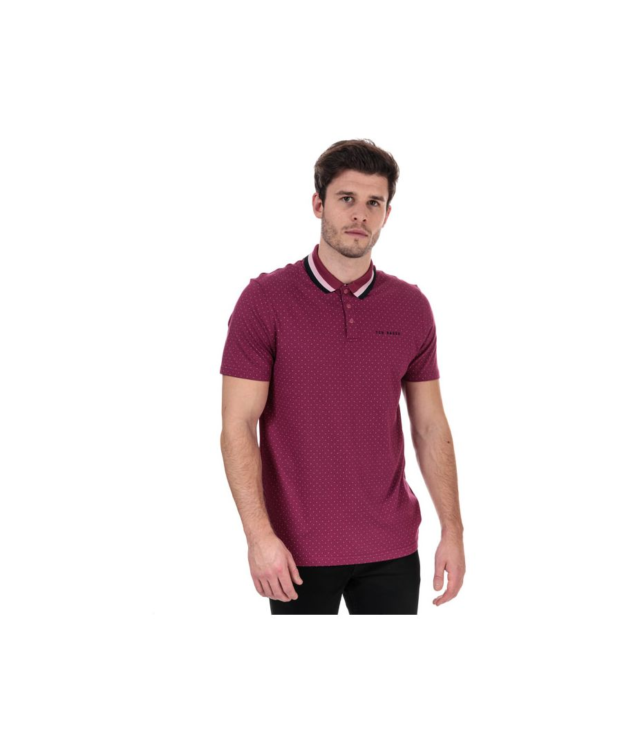 Image for Men's Ted Baker Kabby Golf Polo Shirt in Pink