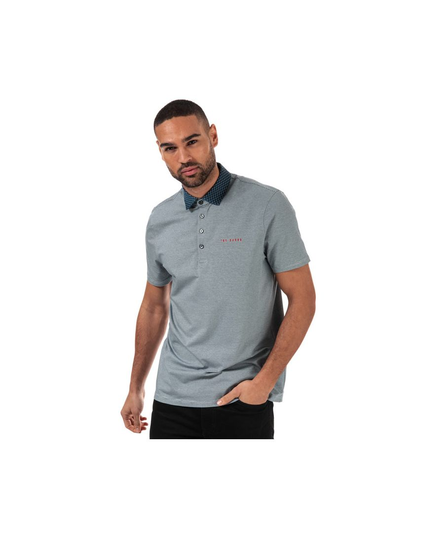 Image for Men's Ted Baker Holein Stripe Polo Shirt in Blue