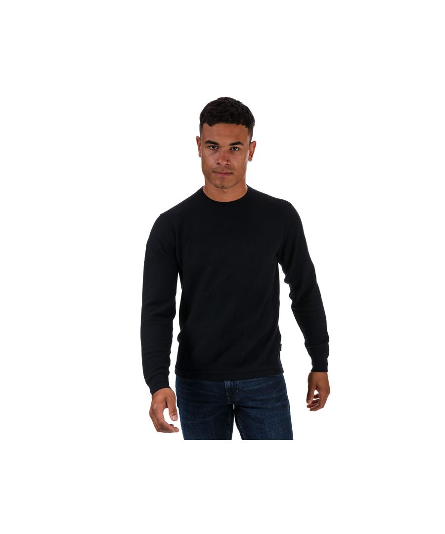 Image for Men's Ted Baker Staylay Textured Crew Neck Jumper in Navy