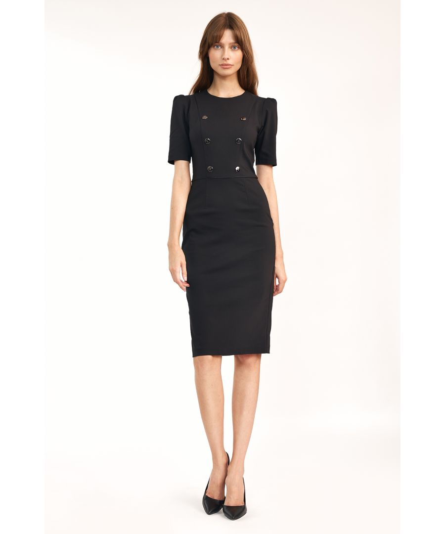 Image for Dress with buttons in double rows
