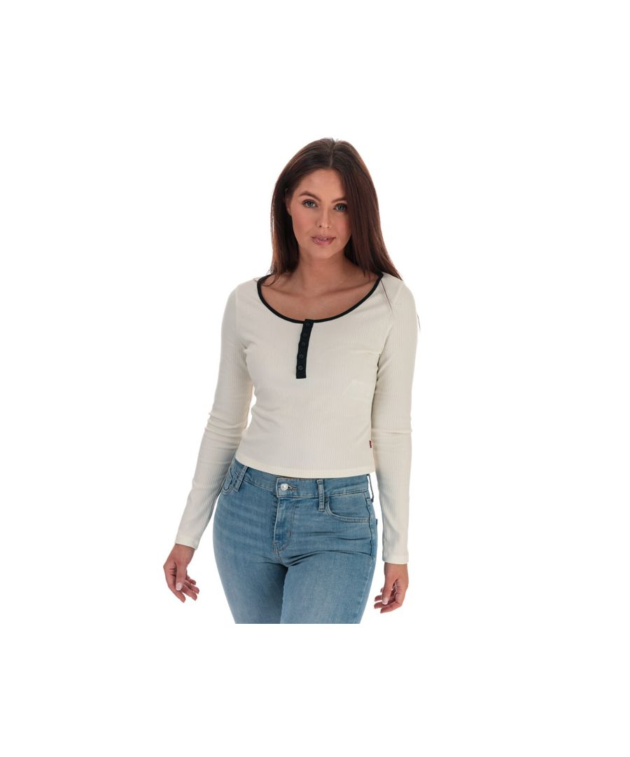 Image for Women's Levis Brandy Long Sleeve T-Shirt Natural 6in Natural