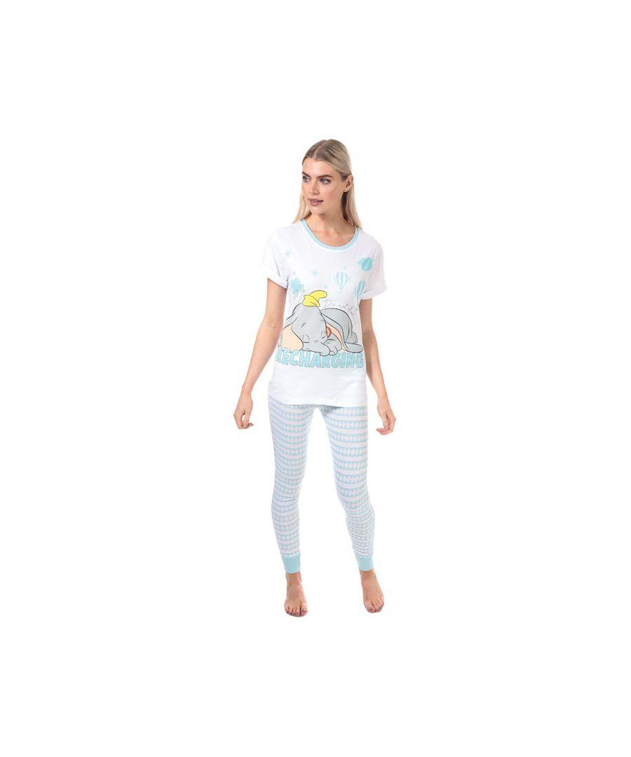 Image for Women's Disney Dumbo Pyjamas in White blue